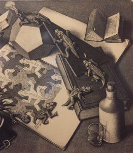 """Escher prent """"Reptielen"""""""