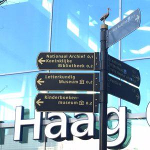 Wegwijsborden Literair Den Haag