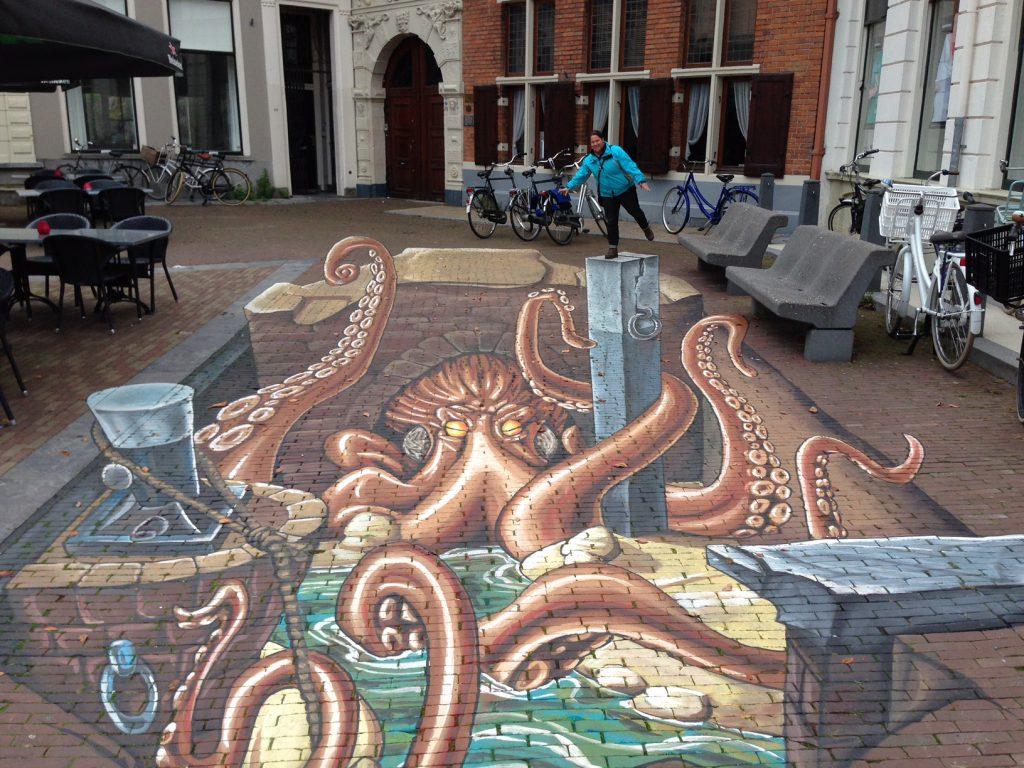 Streetart trompe-l'oeil