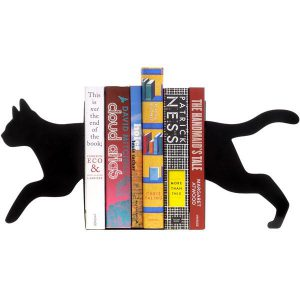 Boekensteunen zwarte kat