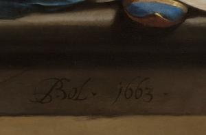 Handtekening Ferdinand Bol