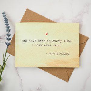 Dickens Valentines Card