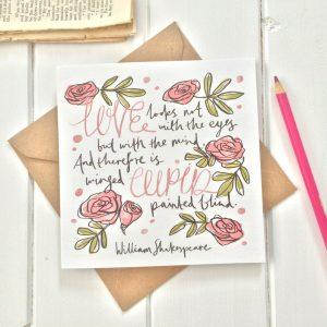 Valentijnskaart Shakespeare