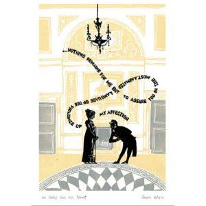 Postcard Mr Darcy en Miss Bennett