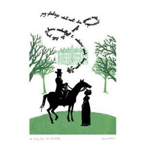 Postcard Mr Darcy Miss Bennett