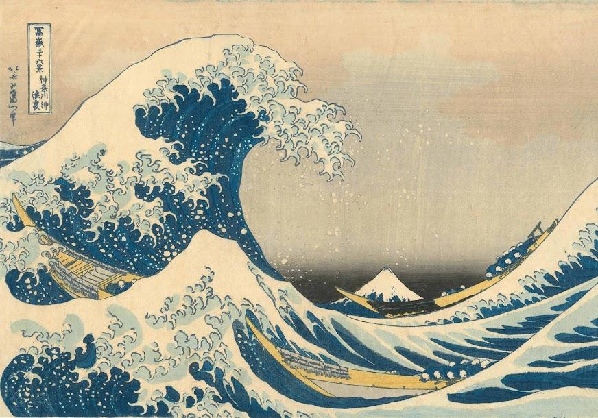 Onder de golf bij Kanagawa-Katsushika Hokusai