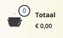 Winkelmandje van WizardingWorld.nl