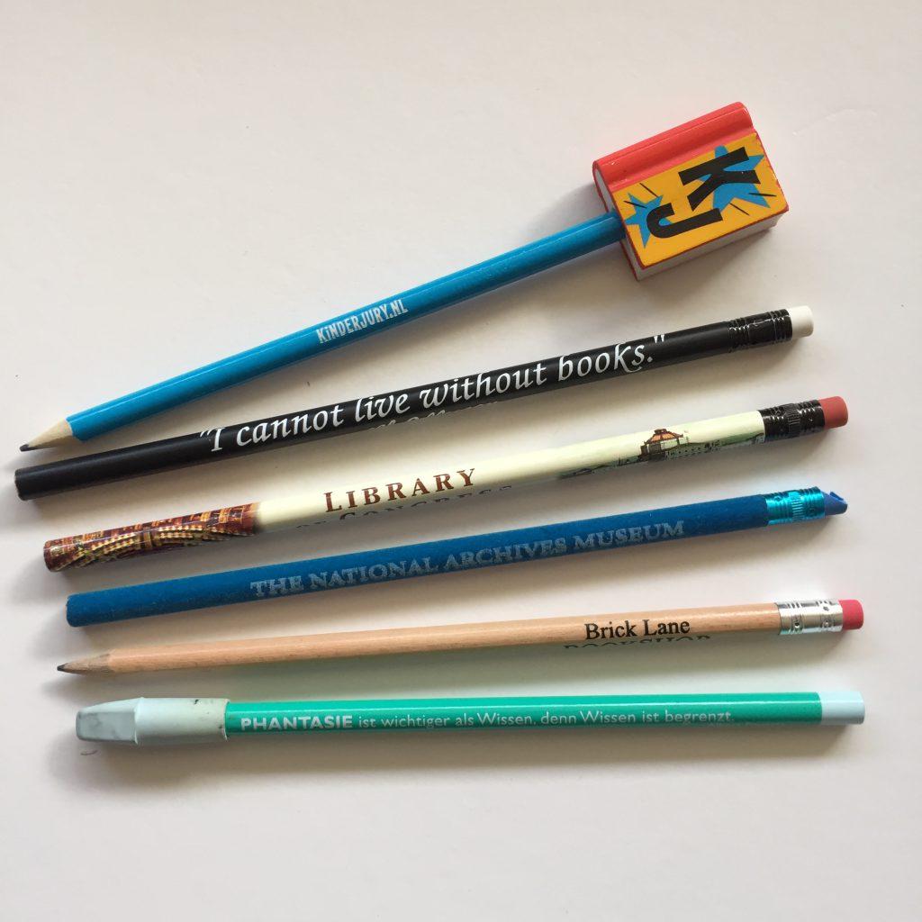 Potloden uit eigen collectie divers