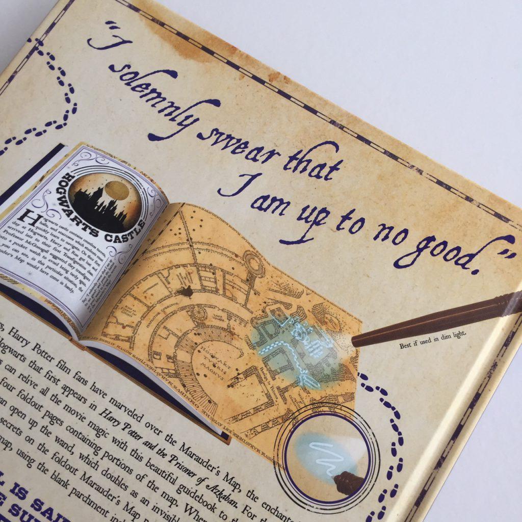 Achterzijde boek Marauder's map