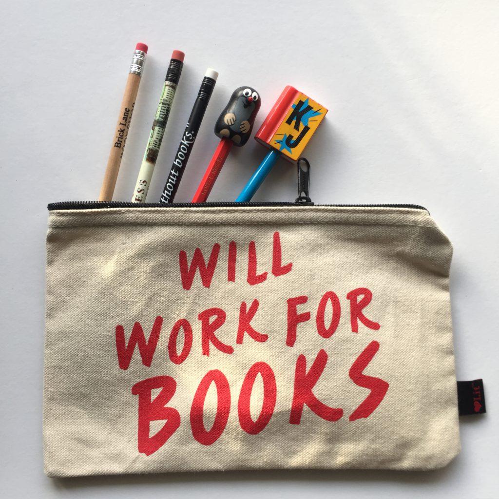 Etui met bookish potloden