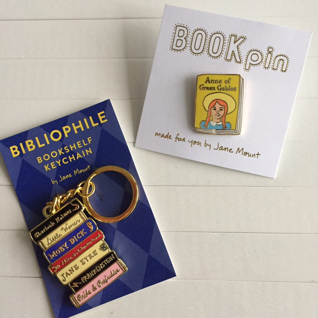 Bibliophile sleutelhanger en pin