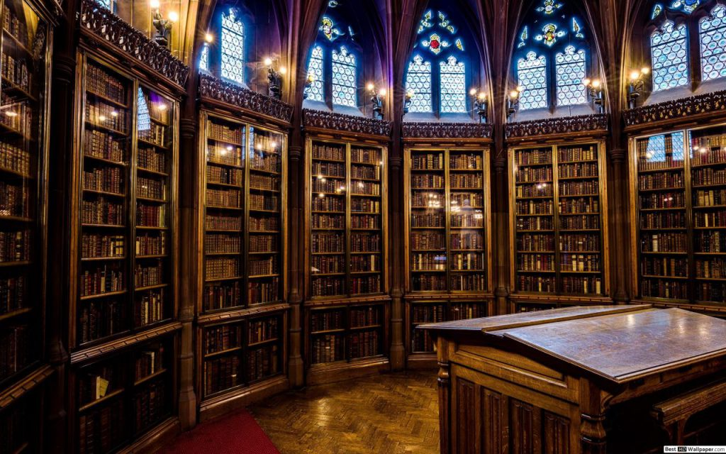 John Rylands bibliotheek Zoom achtergrond