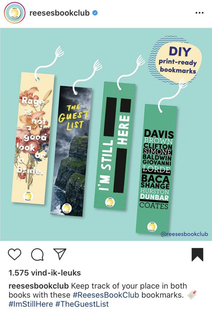 DIY bookmark Reese'e Book Club