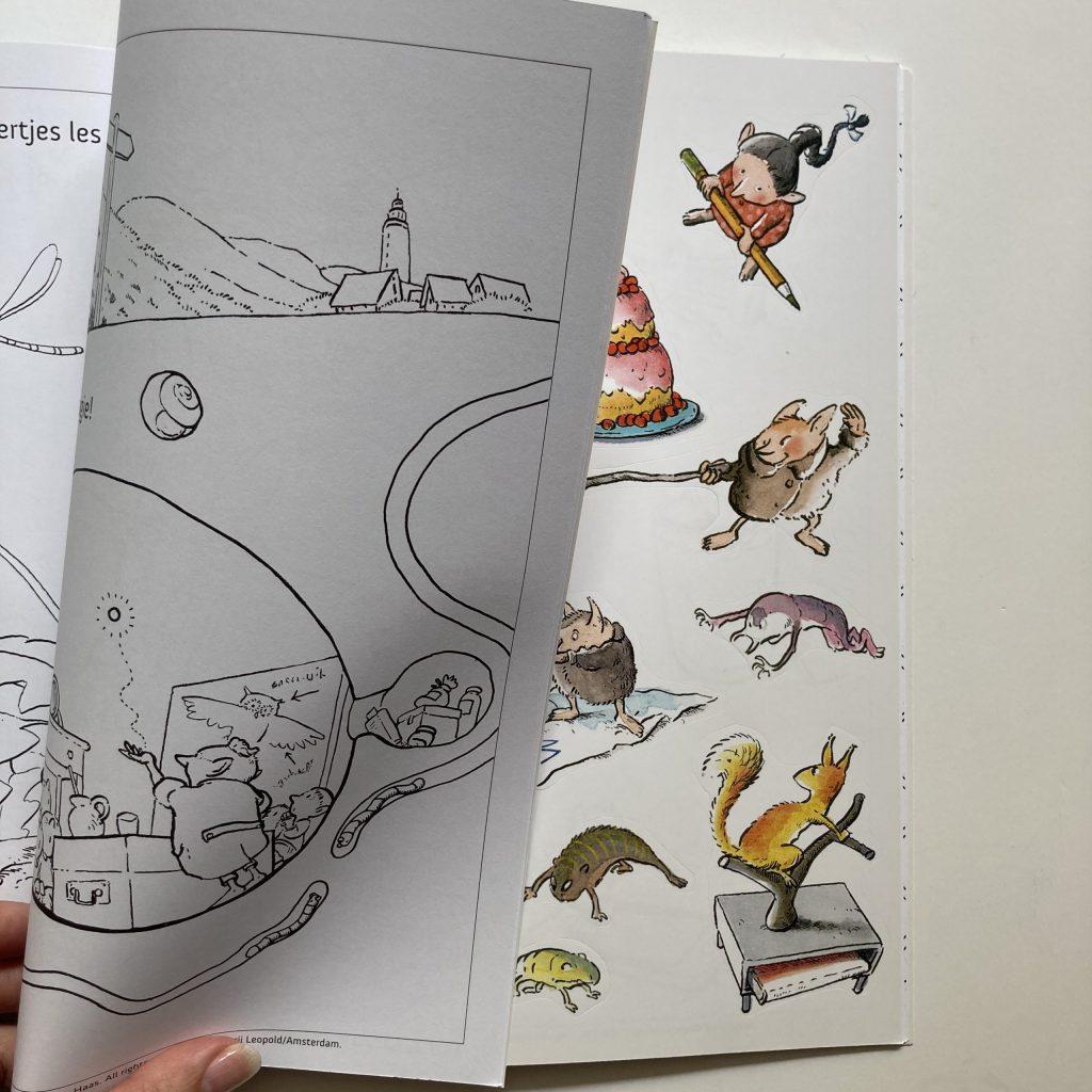 Gorgels kleurboek stickers